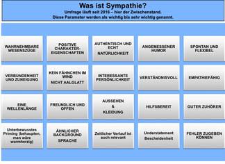 Laufende Studie:                                     Was uns sympathisch erscheinen lässt