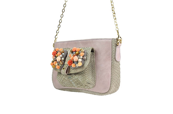 Emily Clutch Taupe Lavender