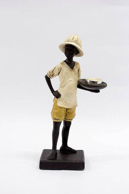 Figura decorativa de resina africana