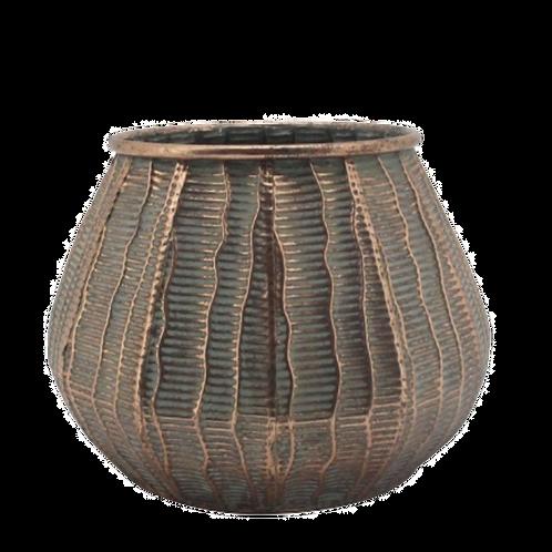 Vaso de metal bronze Rústico