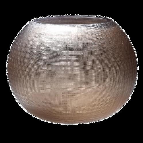 Vaso de Vidro com textura marrom