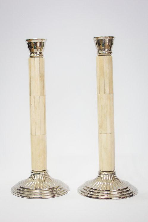 Castiçal em Madre Pérola (osso) - M