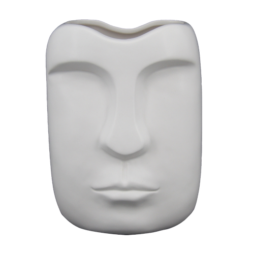 Vaso de cerâmica formato Rosto