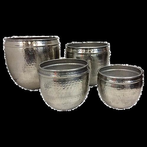 Cachepot para planta - Vaso metal prateado - vendido separadamente