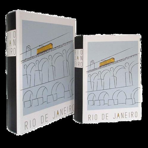Caixa Livro Rio De Janeiro - madeira