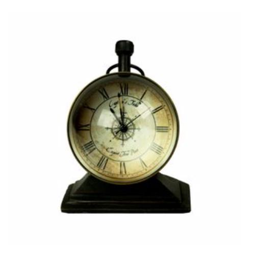 Relógio Bronze base Madeira