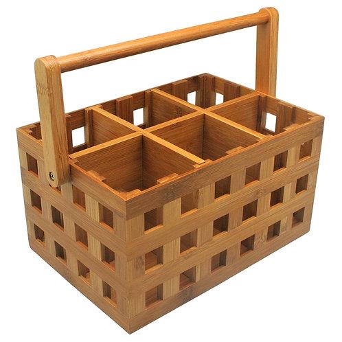 Caixa para utensílios de bambu
