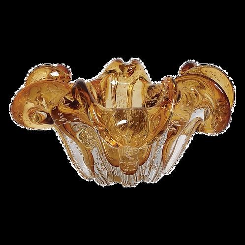 Fruteira Murano - Vidro Ambar