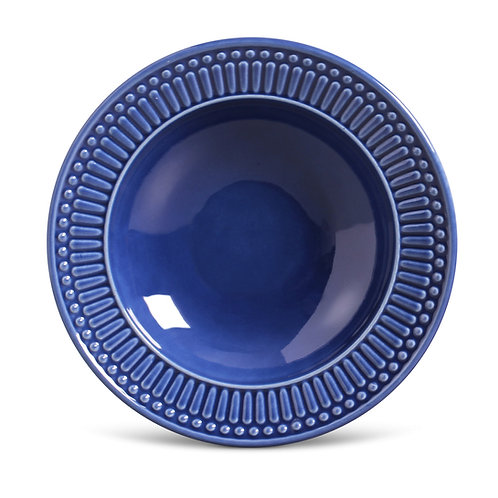 Conjunto Prato Fundo 6 peças Roma Azul Navy