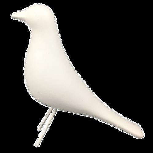 Pássaro de cerâmica branco