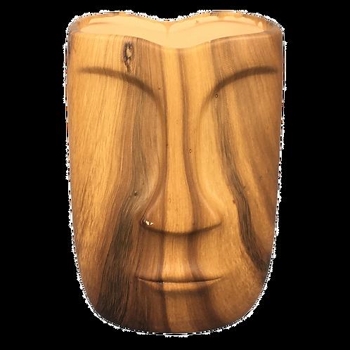 Vaso de ceramica madeira Formato Rosto