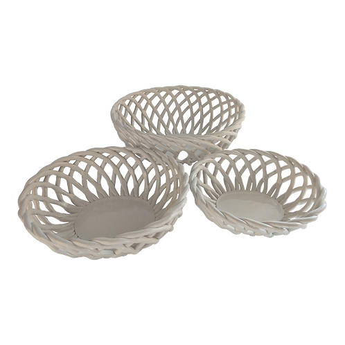 Cesto de cerâmica branco