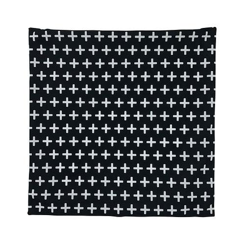 Capa para almofada preto e branco 45x45