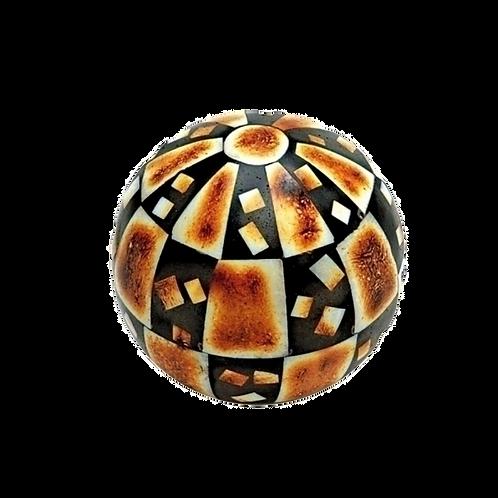 Bola decorativa de Osso - caramelo preto e branco