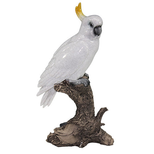 Pássaro decorativo de cerâmica