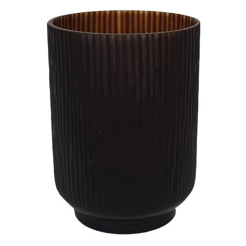 Vaso decorativo de Vidro com textura Marrom