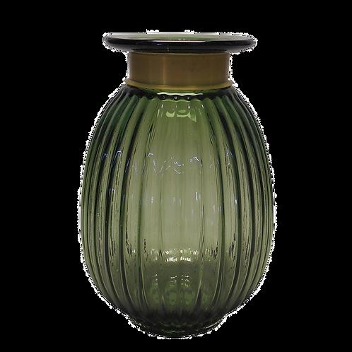 Vaso decorativo de Vidro Verde