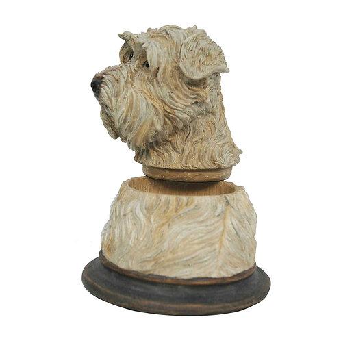 Pote decorativo de resina cachorro