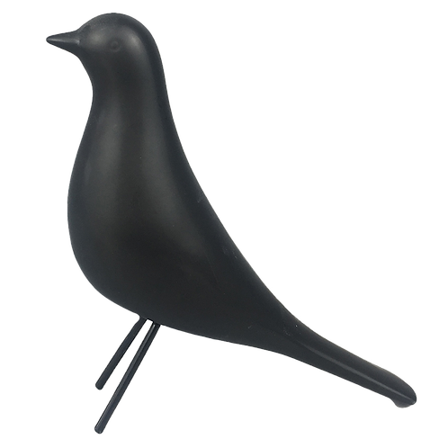 Pássaro de cerâmica preto
