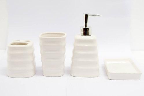 Kit para banheiro de ceramica 4 pçs