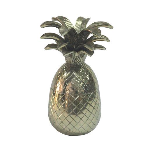 Abacaxi Decorativo ouro velho