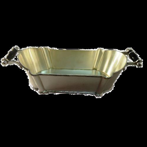 Bowl - Cachepot de Prata com haste de Osso