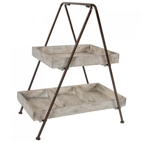 Organizador de mesa em Metal com madeira