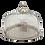 Thumbnail: Prato com tampa de metal com vidro lapidado