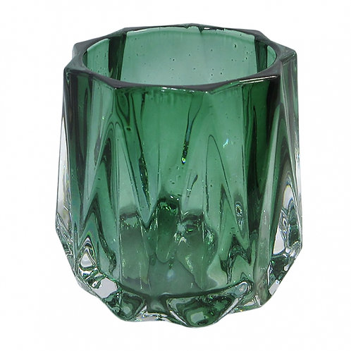 Castiçal de Vidro Verde