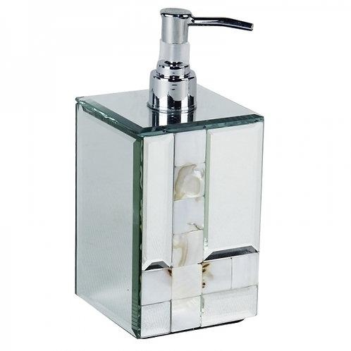 Porta sabonete liquido espelhado com madre pérola