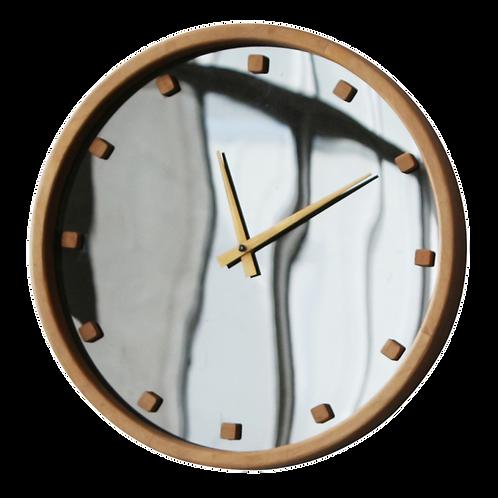 Relógio de parede Madeira preto e dourado