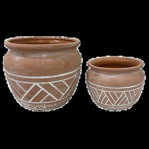 Cachepot / Vaso ceramica Marrom