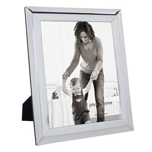 Porta Retrato Vidro e Metal Prateado 15x20