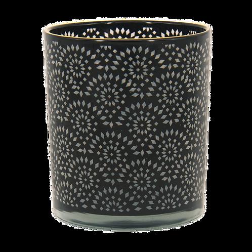 Castiçal de vidro Preto