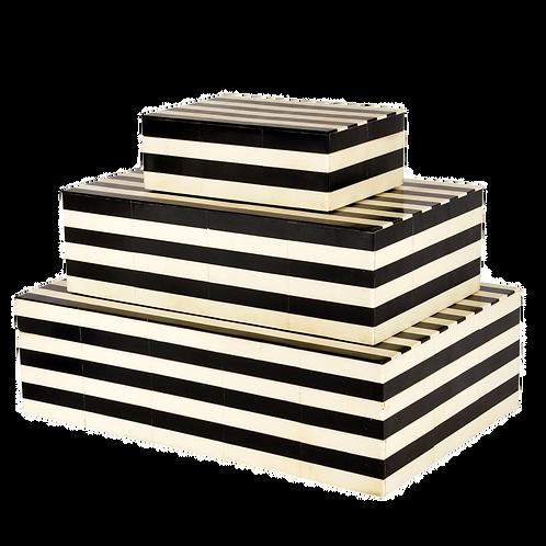 Caixas de OSSO listradas P&B - vendidas separadamente