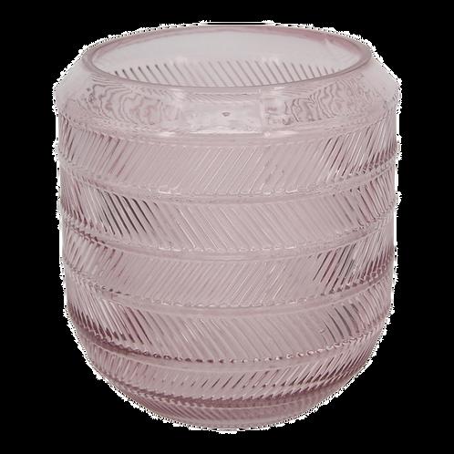 Vaso de vidro transparente Rosa