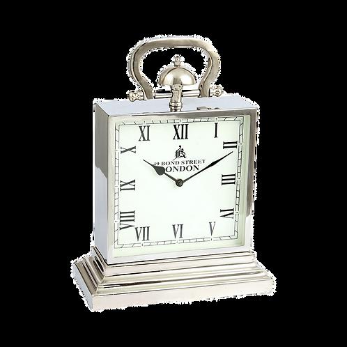 Relógio de mesa em Metal prata