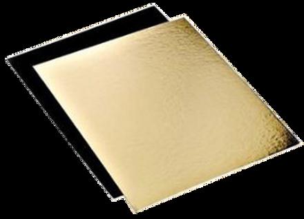 Ploni padėkliukai 20x20 cm, aukso/juodi, 25 vnt