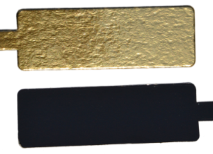 Pailgi aukso/juodi, 5.5x9,5 cm