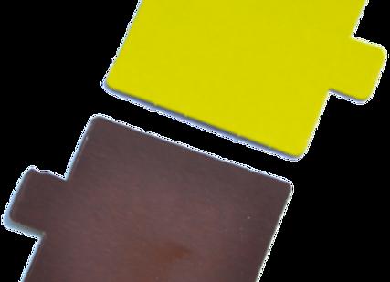 Kvadratiniai šokolado/žalios citrinos spalvos, 8x8 cm