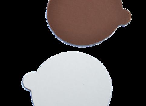 Apvalūs rudi/balti, D8 cm