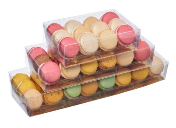 Dėžutė Macarons 18 vietų, su stoveliais