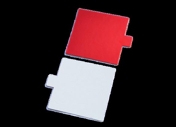Kvadratiniai balti/raudoni, 10x10 cm