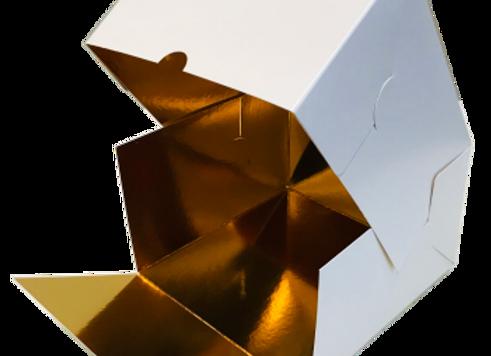 Dėžutė desertui 16x16 cm, aukštis 10 cm, 5 vnt
