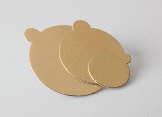 Apvalūs aukso/juodi, D8 cm