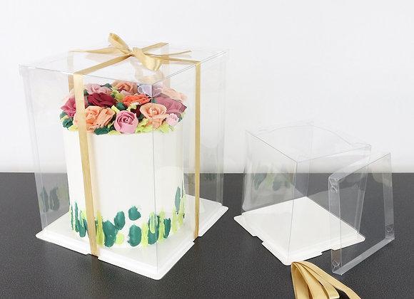 Skaidri torto dėžė 30x30 cm, H37 cm