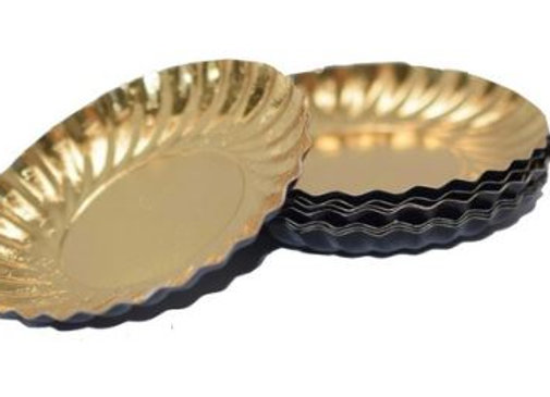 Lėkštutės D9 cm, viršus aukso/apačia juoda
