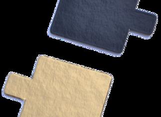 Kvadratiniai aukso/juodi, 8x8 cm