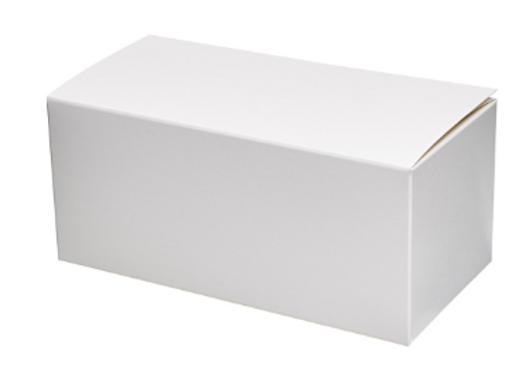Balta dėžutė pakuotė desertui