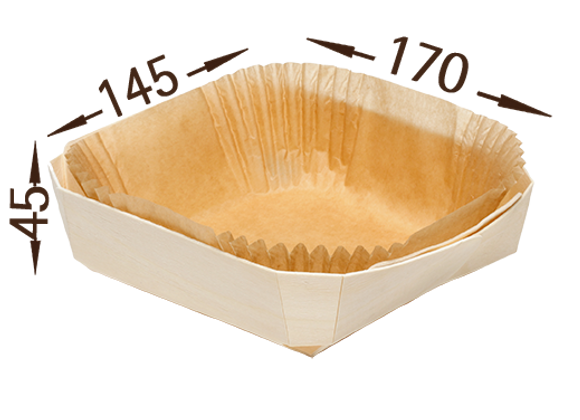 Medinė formelė, 145x170 mm, 20 vnt